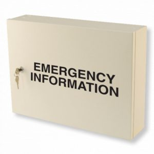 Emergency Information Cabinet - Red Emergency Information Cabinet