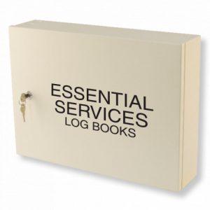 Essential Services Log Book Cabinet - Milk White Essential Services Log Book Cabinet