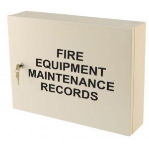Fire Equipment Maintenance Records Cabinet